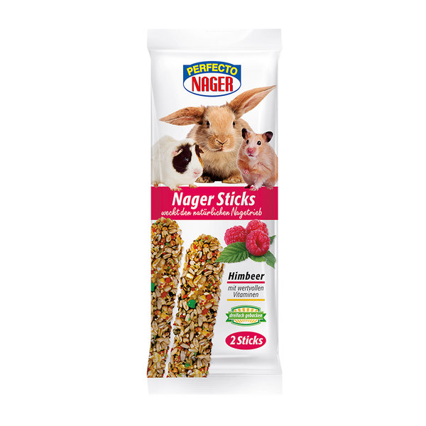 Perfecto Nager Sticks Himbeere 2 Stück (56g)