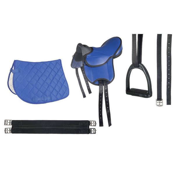 HKM Shetty Sattel Set Beginner blau