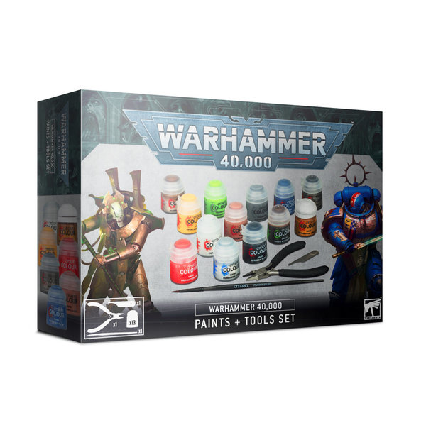 Warhammer 40000 Paint + Tool Set
