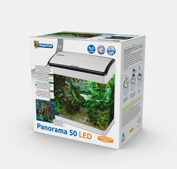 Nano Aquarium Panorama 50 weiss