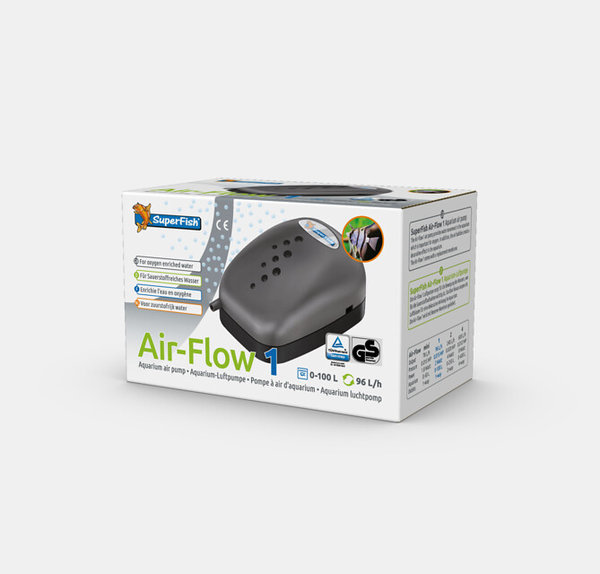 Air Flow Aquarium Luftpumpe 1 Ausgang